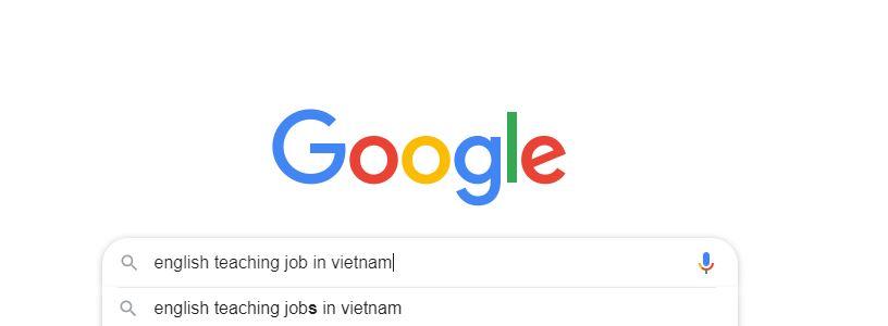 tìm việc dạy tiếng anh tại việt nam trên google